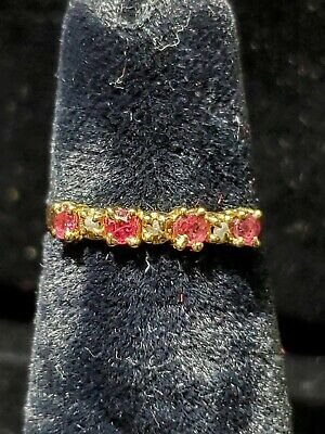 14kt Yellow Gold Round Ruby Ring