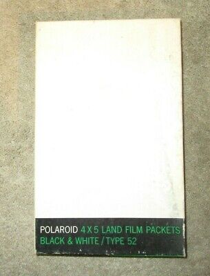 VINTAGE 1969 Box Polaroid 4 x 5 Land Film Black & White Type 52 Unopened
