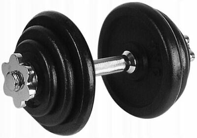 10kg Rubber Encased Dumbbell Hex Weights Gym Fitness/Workout/Weight Lifting