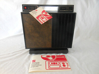 GAF 2788Z Movie Projector DUAL 8 WITH ORIGINAL BOX needs new tires UNTESTED