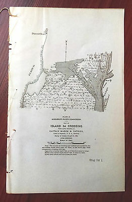 1898 Sketch Map Island 34 Crossing Mississippi River