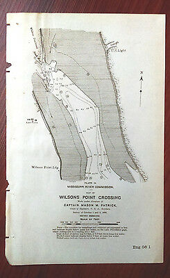 1898 Sketch Map Wilsons Point Crossing Mississippi River
