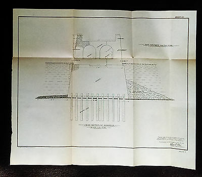1904 Sketch Diagram of Superior Wisconsin Showing Cross-Section of Pierhead