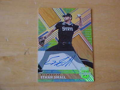 Ethan Small 2019 Panini Elite Extra Edition Asipiration Rookie AUTO 03/10 Brewer