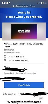 Wireless 2020 - SATURDAY 4th July TICKET *TICKETMASTER SOLD OUT*