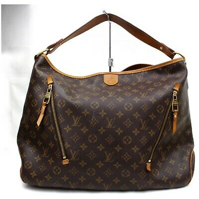 Authentic Louis Vuitton Tote Bag Delightful GM Browns Monogram 401163