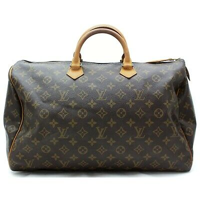 Authentic Louis Vuitton Hand Bag Speedy 40 M41522 Browns Monogram 401176