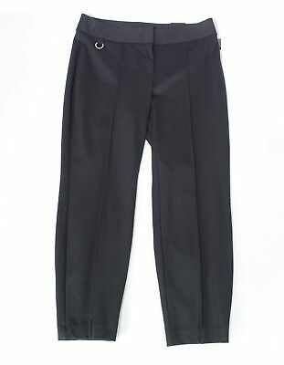 Alfani Women's Pants Black Size 14W Plus Comfort-Waist Pintucked Skinny $69 #343