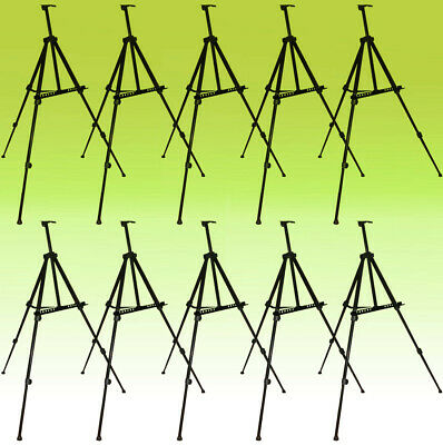 10 PACK Tripod Metal Easel Display Exhibition Folding Artist Adjustable Stand