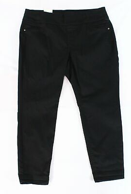 Style & Co. Women's Black Size 18W Plus Pull Om Ankle Pants Stretch $56 #178