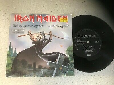 Iron Maiden...bring Your Daughter.. Uk Issue Etched Single..ems 171