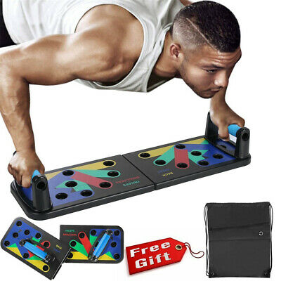 Power Press Push Up Muscle Board System Pushup Stands Foldable Board 2020