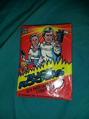 Vintage Buck Rogers Wax Pack Trading Cards sealed 1979