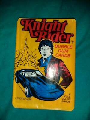 Knight Rider Vintage Wax Pack Trading Cards 1982 sealed