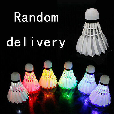 4 Pcs LED Glowing Badminton Shuttlecock Glow In Night Outdoor Accessories R5K5