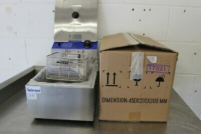 Single Countertop Electric Fryer -1ph – INF-EF-6   450×295×300mm