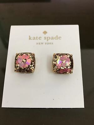 Kate Spade New York Women's Glitter Small Square Stud Earrings