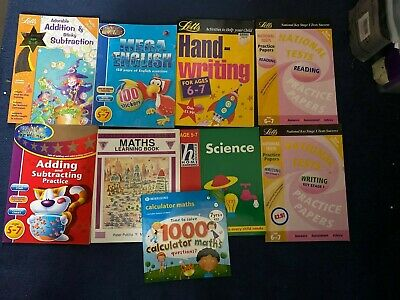 9 Keystage 1 books Maths,English,Science home school work/revision/study age 5-7