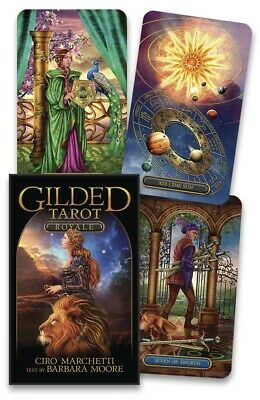 Gilded Tarot Royale Deck NEW Sealed 78 borderless Cards Ciro Marchetti B. Moore