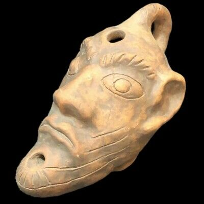 Rare Stone Age Neolithic Anthropomorphic Bust Oil Lamp, 4500Bc