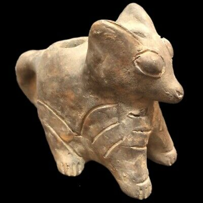 Rare Stone Age Neolithic Anthropomorphic Animal Lamp, 4500Bc
