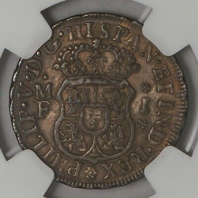 1738 MO MF Mexico Real AU58 NGC  939447-23