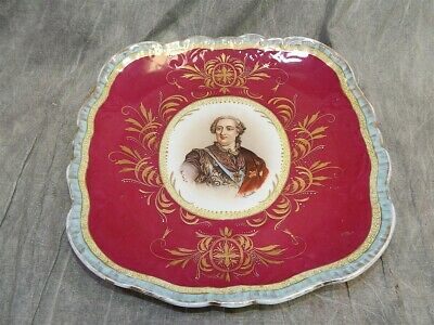 "Large Beehive Austria Cabinet Plate 11.5' -12.5"" Portait Charger Louis XV signed"