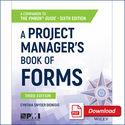 A Project Manager's Book of Forms - A Companion to the PMBOK Guide 🎓P.D.F.📚