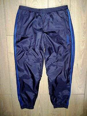 Vtg 90S Adidas 3 Stripes Nylon Windbreaker Lined Track Suit Bottoms Pants D6 L