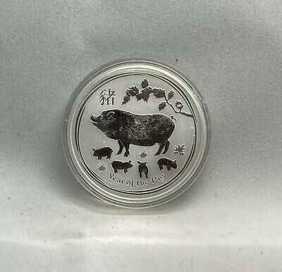 2019 Australia Year Of The Pig 1 Oz Silver Coin