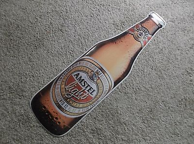 Amstel Light Beer Tin Tacker Bar Sign Ready For  Display