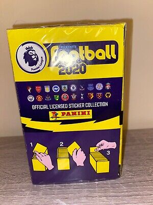 BRAND NEW Full box of Panini FOOTBALL 2020 Premier League Stickers, 100 Packs.