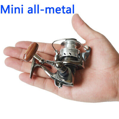 Golden Fishing Reel Spinning Gold Round Mini Micro Lure Small Tiny Wheel Line XS