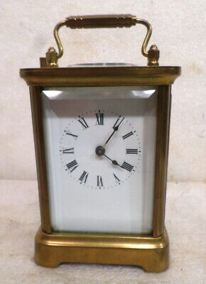 1903 Dated Brass Waterbury Time, Strike and Repeat Carriage Clock