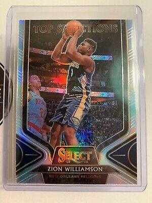 2019-20 Select Zion Williamson Rookie Top Selections Silver Refractor