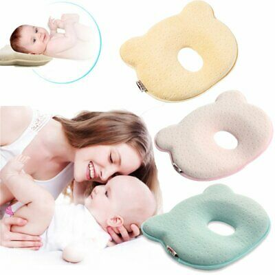 UK Infant Baby Newborn Memory Foam Pillow Prevent Flat Head Anti Roll Support G5