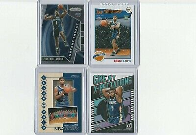 (4) Zion Williamson New Orleans 2019-20 Rookie Card Lot!!!!!!!!!!!!!!!!