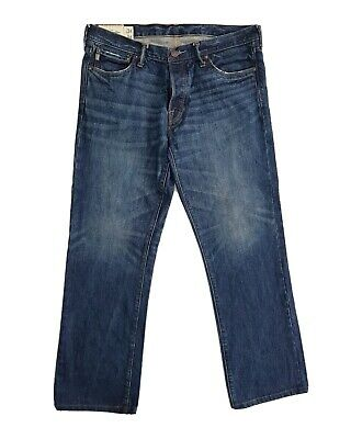 MENS ABERCROMBIE AND FITCH JEANS SIZE 34 Horton Classic Straight Leg Button Fly