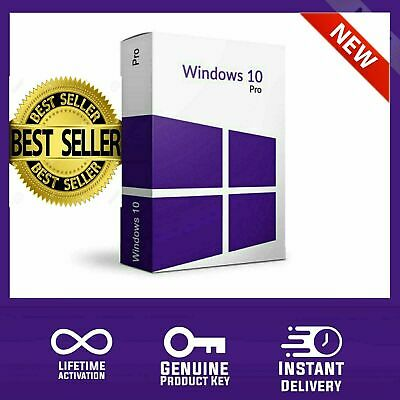 Instant Microsoft Windows 10 Pro Professional 32 64 bit Genuine License Key Code