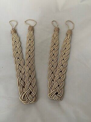 Gold/bronze Colored Braided Curtain Tie Backs