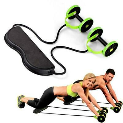 Abs Exercise Roller Wheel Pull Rope Waist Abdominal Slimming Fitness Equipment