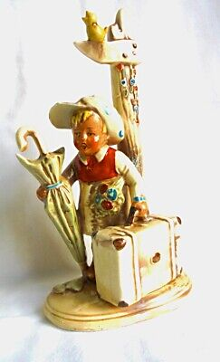 ART DECO GERMAN FIGURE OF BOY WITH SUITCASE. Late 1930`s. Mint Condition. !!!!!!