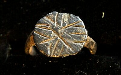 5133_2. Medieval child ring. bronze. the story of the Star of Bethlehem