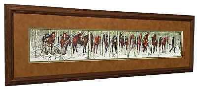 "Bev Doolittle  ""Two Indian Horses""  Matted and Framed Art Print"