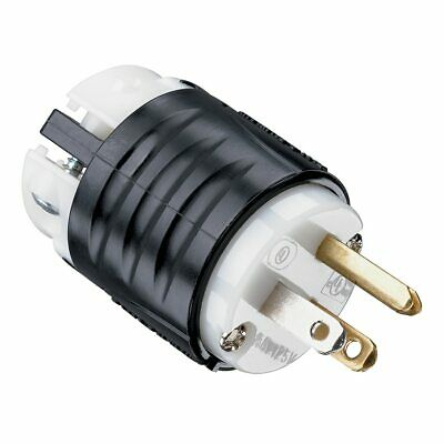Legrand Pass And Seymour 15-Amp-Volt Black/White 3-Wire Grounding Plug
