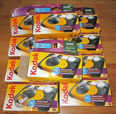 10 New But Expired Film Disposable Kodak Cameras ~ HD Model ~ Lot i
