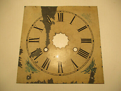 Antique American Weight Driven Ogee Kipper Box Clock Dial for Restoration