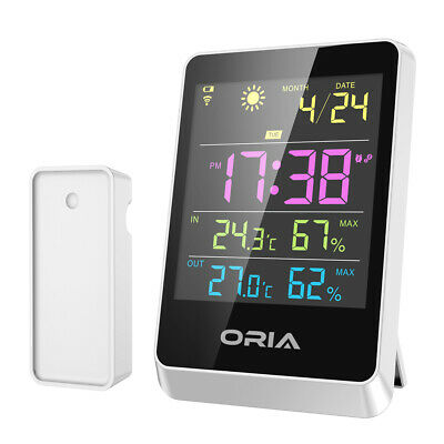 Indoor Office Room Digital LCD Thermometer Hygrometer Temperature Humidity Clock