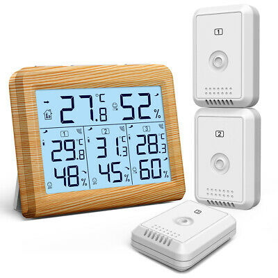 328ft Outdoor Indoor Room Digital Thermometer Hygrometer Temperature Humidity