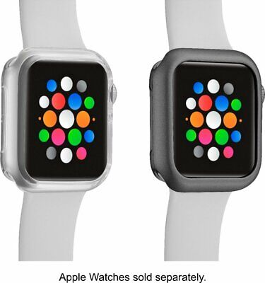 Modal™ - Bumper for Apple Watch™ 44mm (2-Pack) - Clear/Space Gray